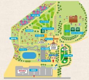 えぼしスポーツの里-園内マップ